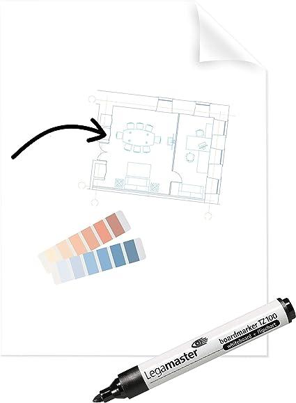 Legamaster 7-159300 - Pack de 25 hojas de lámina electrostática, 60 x 80 cm, transparente: Amazon.es: Oficina y papelería