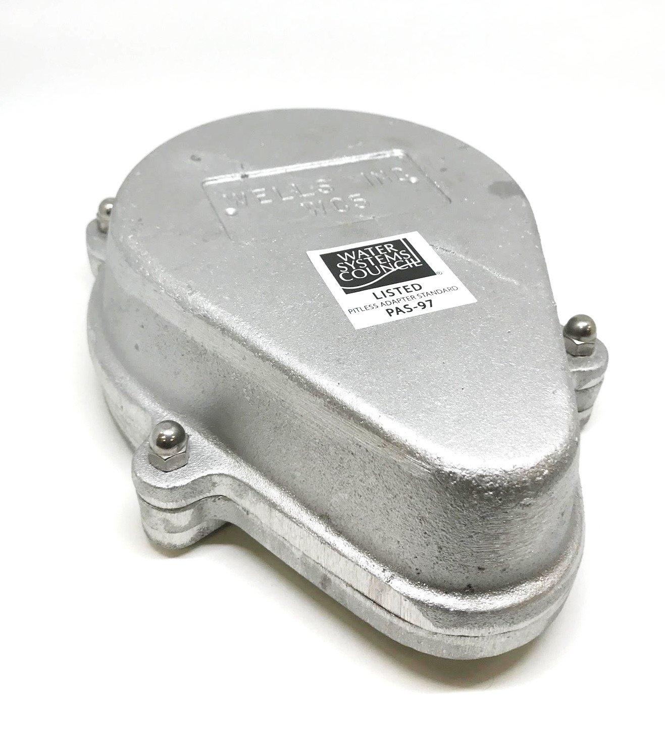 Campbell Mfg WT5 5'' Aluminum Watertight Well Cap for 5-9/16'' OD Casings