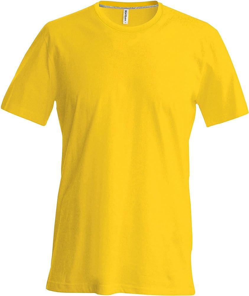 Kariban - Camiseta Básica entallada con cuello redondo de manga corta - 100% algodón primera calidad extra suave: Amazon.es: Ropa y accesorios