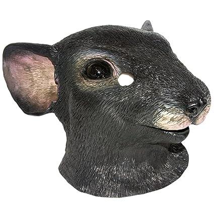 Color realista de la cabeza de ratón máscara de goma