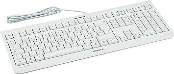 Cherry KC 1000 JK-0800ES-0- Teclado, color blanco, QWERTY ...