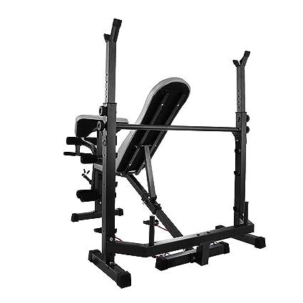 Autovictoria Bancos de Peso Banco de Entrenamiento Banco de Pesas Multifuncional para Músculo con Capacidad de 300kg / 400kg Equipo Ideal para Ejercicios de ...