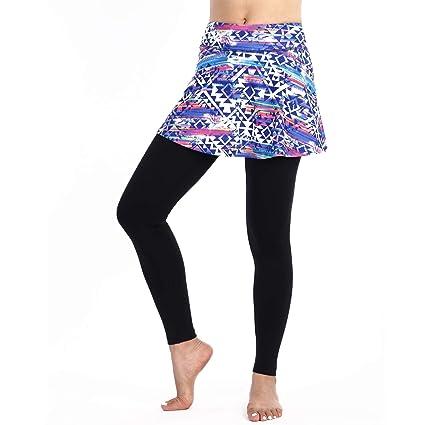 BEROY Falda Pantalón con Polainas Falda de Deportes para Yoga,Running,Stretch Leggings Pantalón,Golf,Tennis Deportivo Falda Pantalones 2 in 1