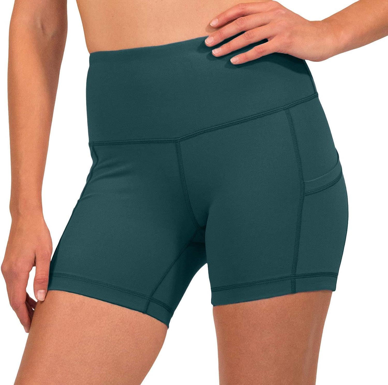High Waist Power Flex Yoga Shorts with Side Pocket 90 Degree by Reflex