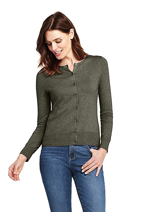 Lands' End Womens Cardigan Sweater | Supima Cotton Cardigan Sweater for Women best women's cardigan