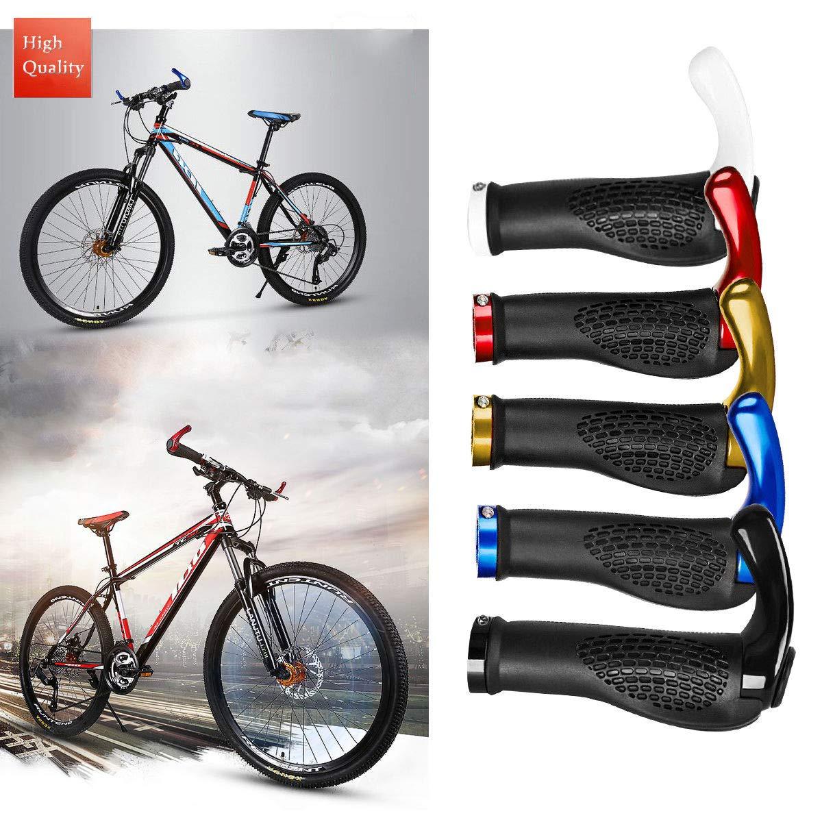 K9 Pair Black Rubber Mountain Bike Bicycle Cycling Lock On Handlebar Grips