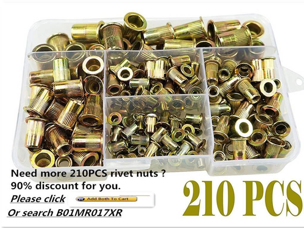 Muzata Hand Rivet-Nut Installation Tool Blind Rivet Nut Kit Set,Come with 900pcs Rivet Nuts,1 Rivet nut Gun and Carry Box by Muzata (Image #4)