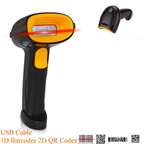BQ-202 Supermarket Items Barcode Scanner Fast Reading 1D Barcode 2D QR Code  USB Cable for Windows/Android POS System