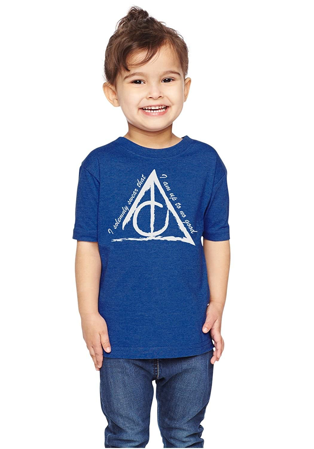 Brain Juice Tees I Solemnly Swear That I Am up to No Good Unisex Toddler Shirt