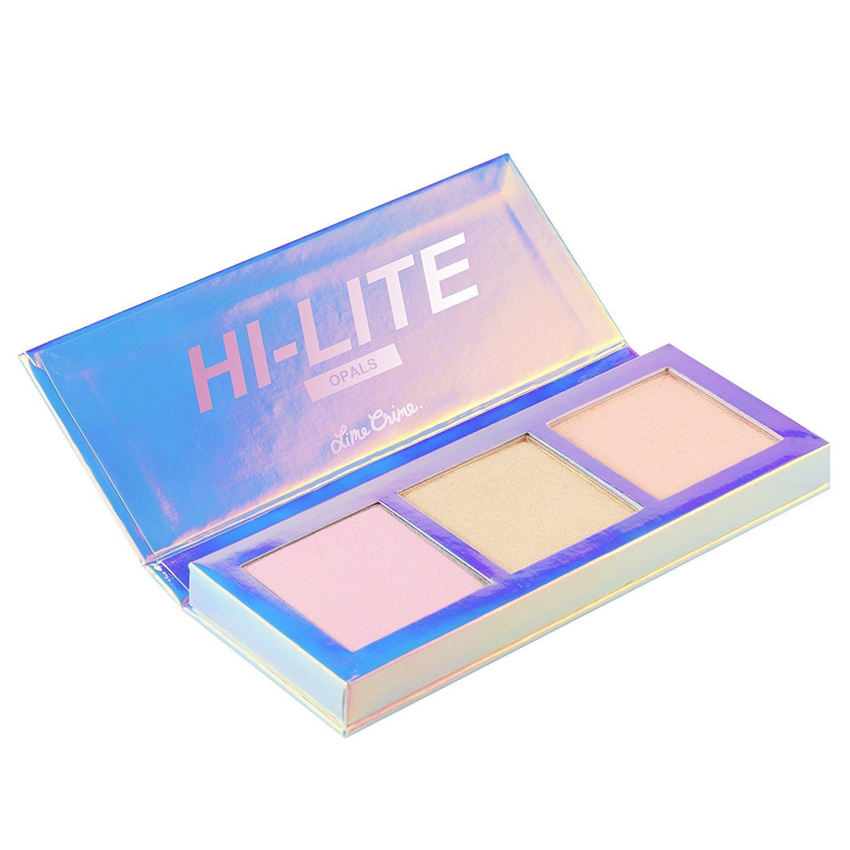 Lime Crime Hi-Lite Opals Palette. Iridescent Powder Trio- Highlighter Makeup n/a