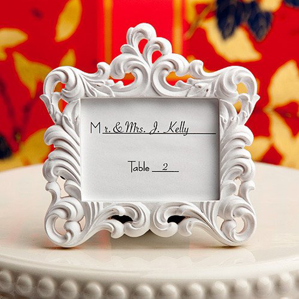 Amazon.com - Victorian Baroque Style Place Card Frame (Set of 6 ...