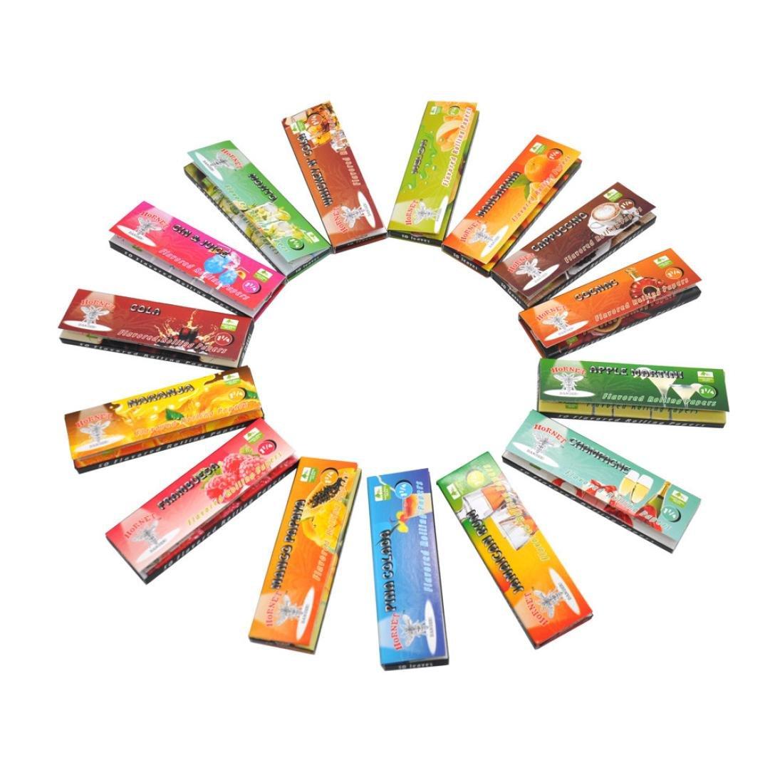 Vanvler Smoking Rolling Papers Flavored Cigarette Maker 5Pcs 110/44MM (Random Color)