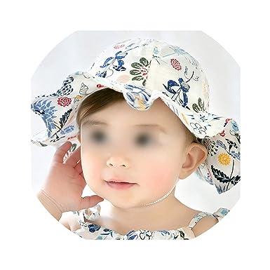 7b5b80d5 New Floral Baby Hat Newborn Baby Girl Hat Beach Bucket Cap Spring Children  Kids Girls Summer