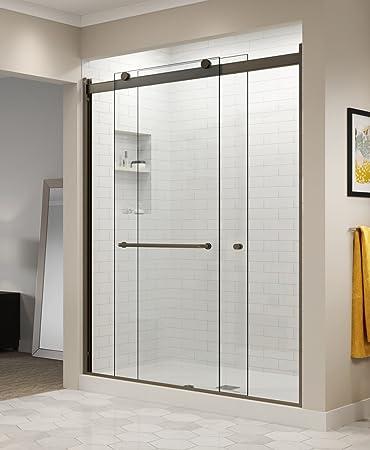 Basco Rotolo 56 60 W X 76 H Inch Semi Frameless Sliding Shower Door