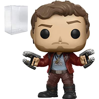 Funko Pop! Marvel: Guardians of the Galaxy Vol. 2 - Star Lord Vinyl Figure (Bundled with Pop Box Protector Case): Toys & Games