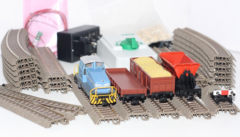 Trix H0 21523 Startpackung Bauzug mit Diesellok DHG 500 + 3 Güterwagen  Bild