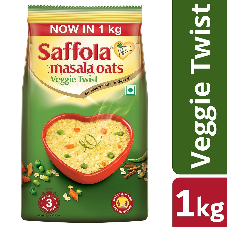 Saffola Masala Oats Veggie Twist, 1kg