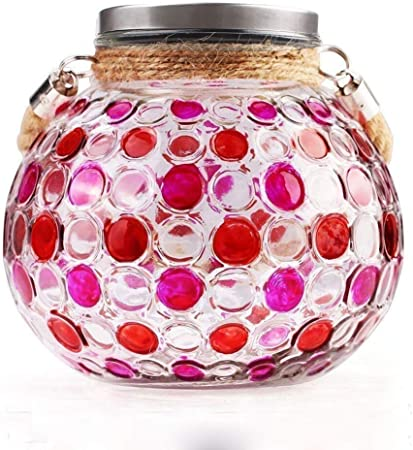 NEW IRIDESCENT LIGHT PINK+CLEAR GLASS MOSAIC LED LIGHT,BATTERY OPERATED CANDLE