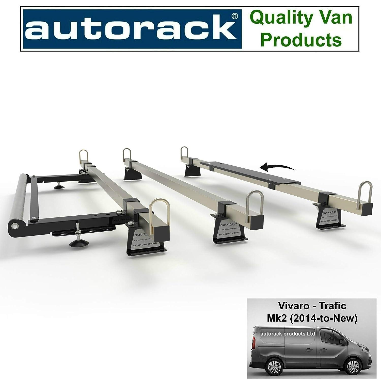 Autorack Products Renault TRAFIC dal 2014 in Poi Portapacchi a 3 Barre con Rullo