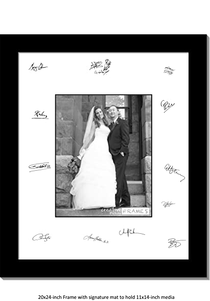 Amazon.com - CreativePF [11x14-20x24bk-w] Signature Frame - Photo ...