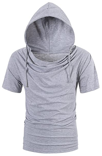 992f08a6e Amazon.com: BESUMA Men Summer Hoodies T Shirt Short Sleeve Loose Casual  Pullover Tops: Clothing