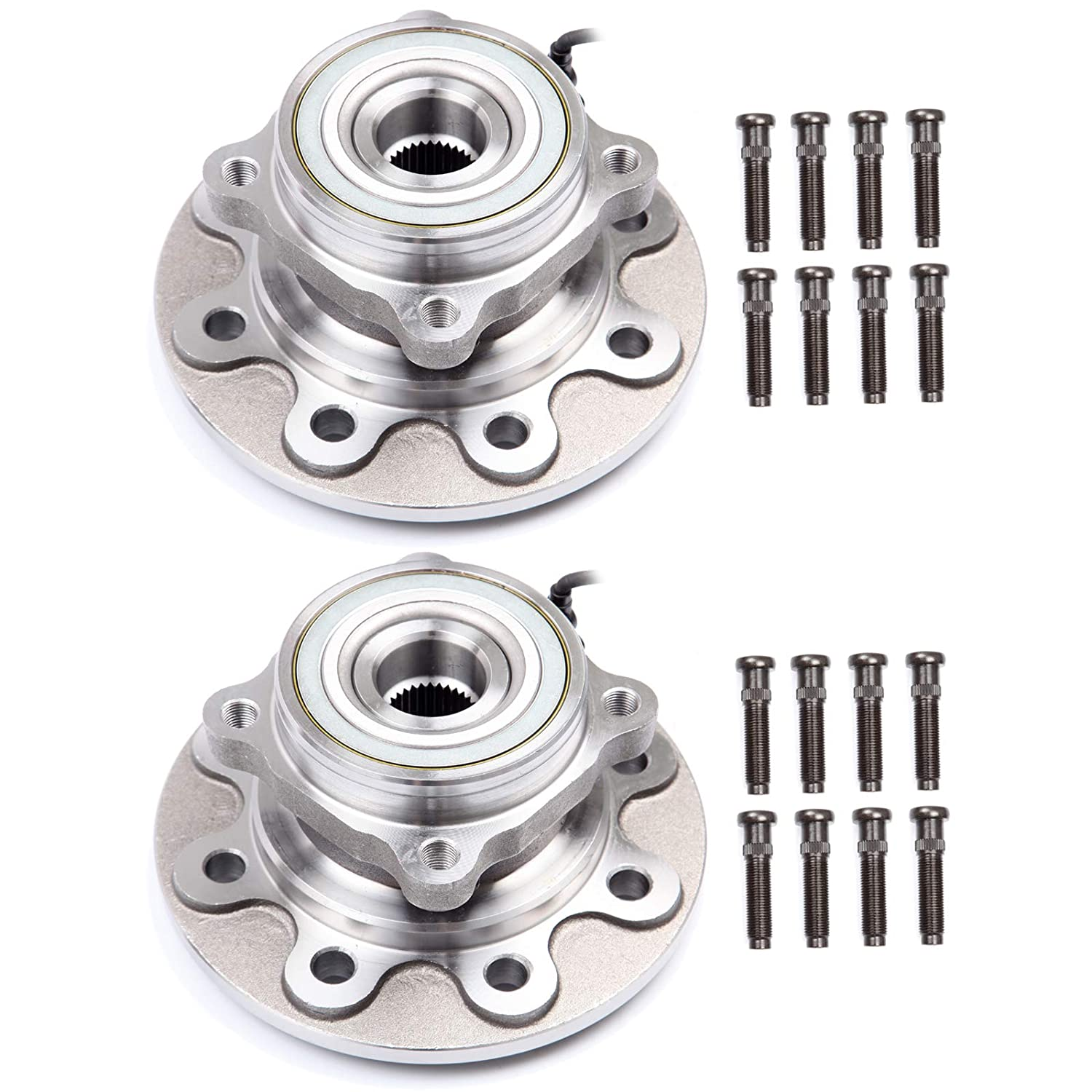 SCITOO Wheel Bearing and Hub Assembly OE 515034 for 1998-1999 Dodge Ram 2500 4WD Wheel Hub Bearing 8 Bolts W//ABS 2 Pads