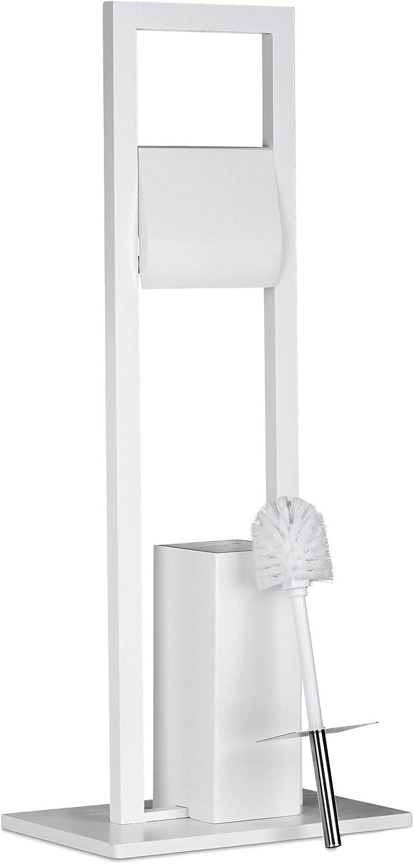 Blanco Rosca de 12 mm y Di/ámetro de 8 cm Plastico Relaxdays Juego de 5 Cepillos de Recambio Escobilla de Ba/ño