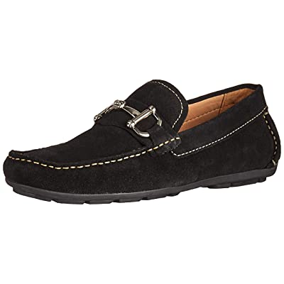Driver Club USA Mens Genuine Leather Made in Brazil Park Ave Buckle Loafer, black grainy 8 M US | Loafers & Slip-Ons