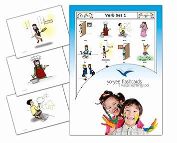 Yo Yee Flashcards Tarjetas Con Ilustraciones En Ingles Verbos 1