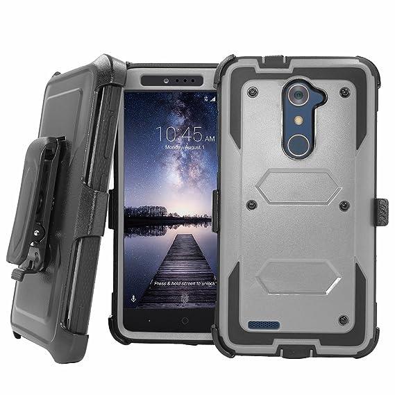 hot sale online cf7f4 1a33a ZTE Blade X Max Case,ZTE Zmax Pro Case, ZTE Grand X Max 2 Case, Telegaming  Heavy Duty Armor Case Belt Clip Holster Cover For ZTE Blade X Max/Zmax ...