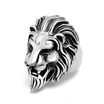 Aokarry Jewelry Men Stainless Steel Necklace Pendant Necklace Lions Head