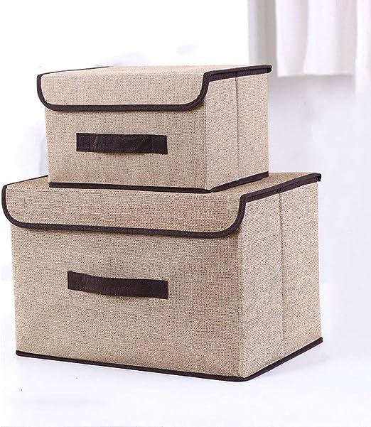 Caja almacenaje Caja de almacenamiento de tela plegable del tirón ...