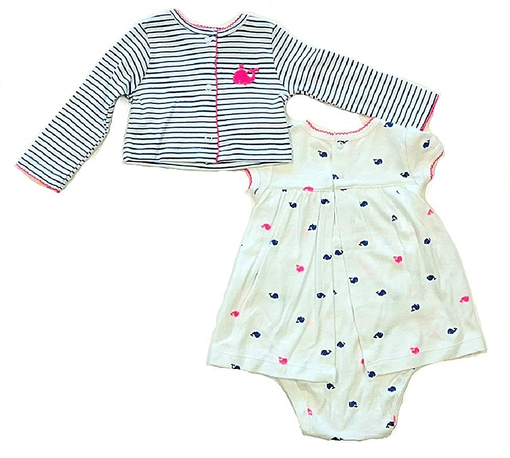 Carters Baby Girls Cardigan and Dress Set 6 Months