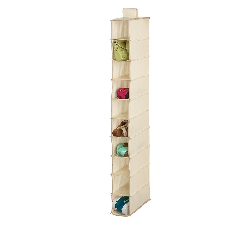 Honey-Can-Do SFT-01254 10-Shelf Hanging Shoe Organizer, Natura, Natural