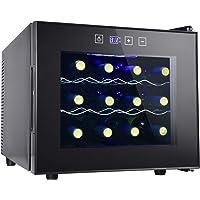 12 Bottle Wine Cooler Refrigerator- Freestanding Wine Cellar for Red, White, Champagne or Sparkling Wine,Compressor Wine…