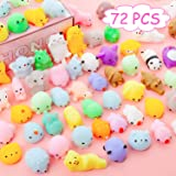 YIHONG 72 Pcs Kawaii Squishies, Mochi Squishy Toys for Kids Party Favors,Mini Stress Relief Toys for Birthday Gift…