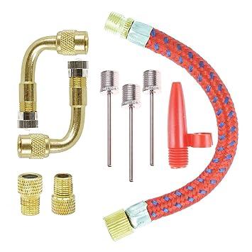 COSORO Kit de adaptador de bomba de inflador 9 piezas, piezas de convertidor de válvula