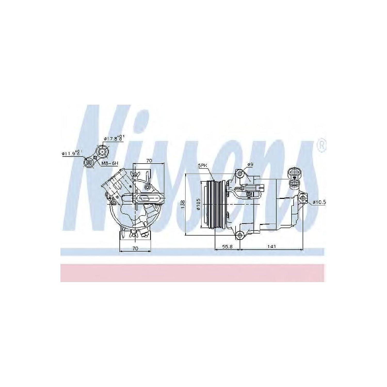 Nissens 89038 Sistemas de Aire Acondicionado: Amazon.es ...