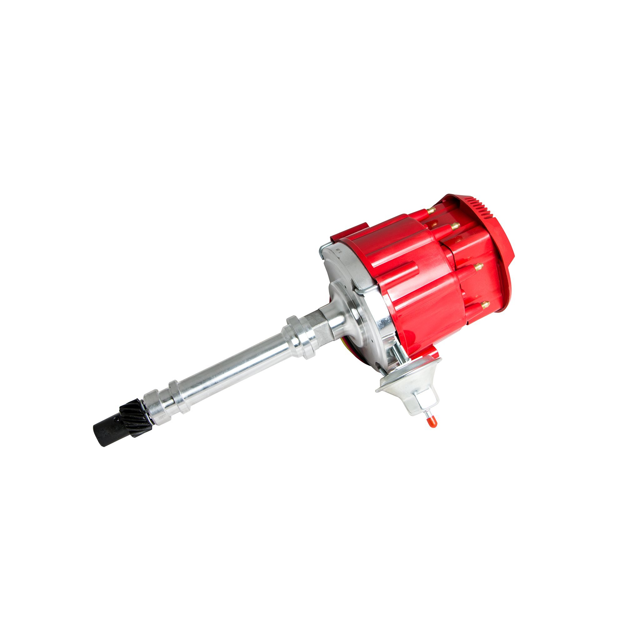 Top Street Performance JM6500R HEI Distributor with Red Flat-Cover Super Cap (65K Volt Coil) by Top Street Performance