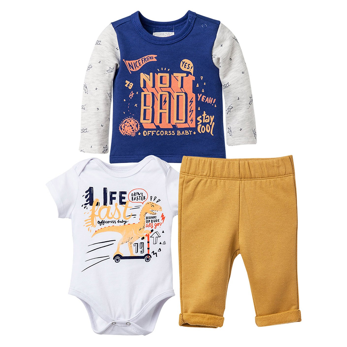 Amazon.com  OFFCORSS Baby Boy Outfit Joggers Onesie and Sweater Conjuntos  para Bebes  Clothing 22914e76a