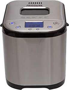 FRIGIDAIRE Stainless Steel Bread Making Machine Maker, 2LB XL 15-in-1, Settings Incl Gluten Free, Cake & Yogurt, Nonstick Bowl, 3 Loaf Sizes 3 Crust Colors, Bread Hook, Measuring Cup, Spoon Included