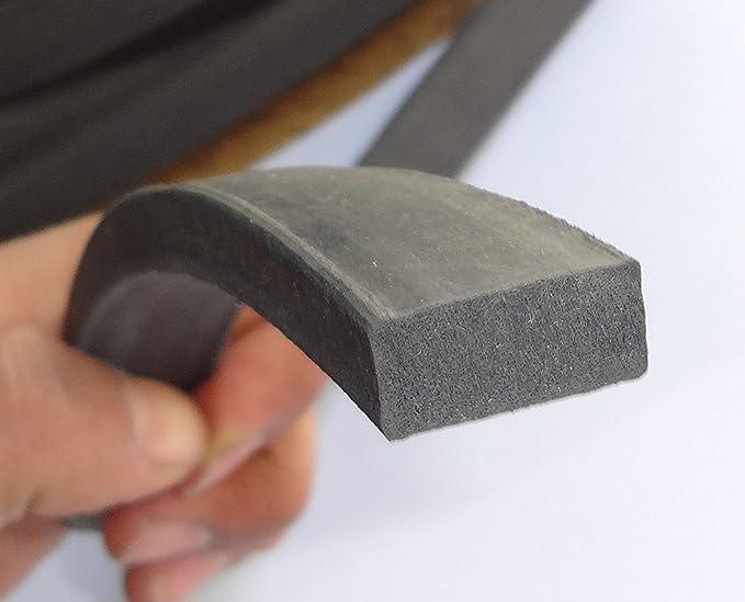tira de neopreno universal para extrusi/ón de burletes 1 cm de alto x 4 cm de ancho M M Seal A064 Sello de goma con esponja autoadhesiva