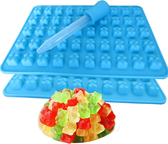 4pcs Gummy Bear Worm Candy Molds Lovely Bear Pattern Candy Chocolate Making