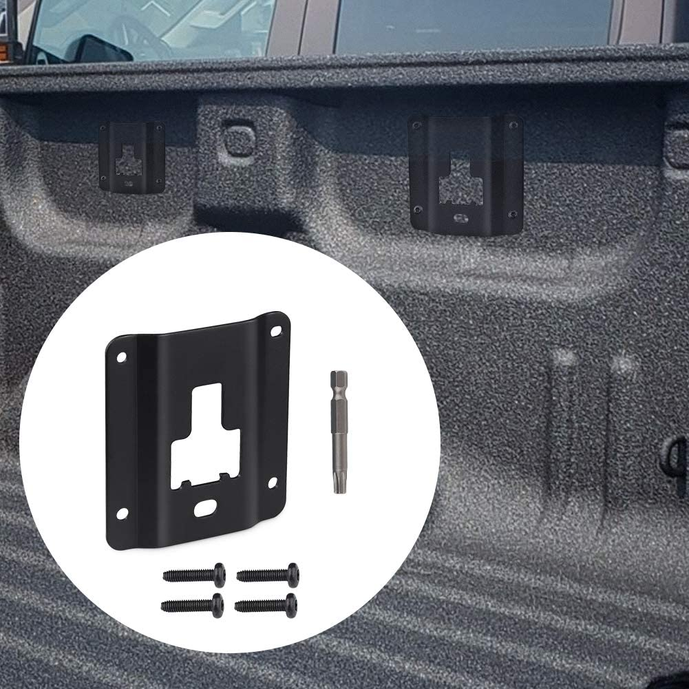WMPHE Compatible with 4PCS Tie Down Brackets Ford F150 F250 F350 /& Raptor FL3Z9928408AB Truck Cargo Fixed Load Hook Reinforcement Panel