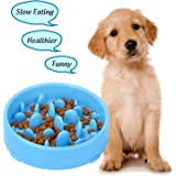 XZQTIVE Slow Feeder Dog Bowl Healthy Slow Eating Bowls for Dog Anti Fasting Eater