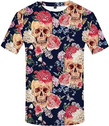 Emlyn Adrian - Camiseta de Esqueleto para Hombre, diseño de Calavera