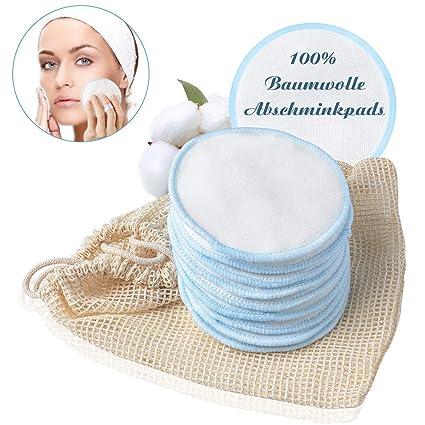 Discos Desmaquillantes Reutilizables de 10 Piezas, METALABY Almohadillas Cosméticas de Algodón para Quitar Maquillajes con una Bolsa
