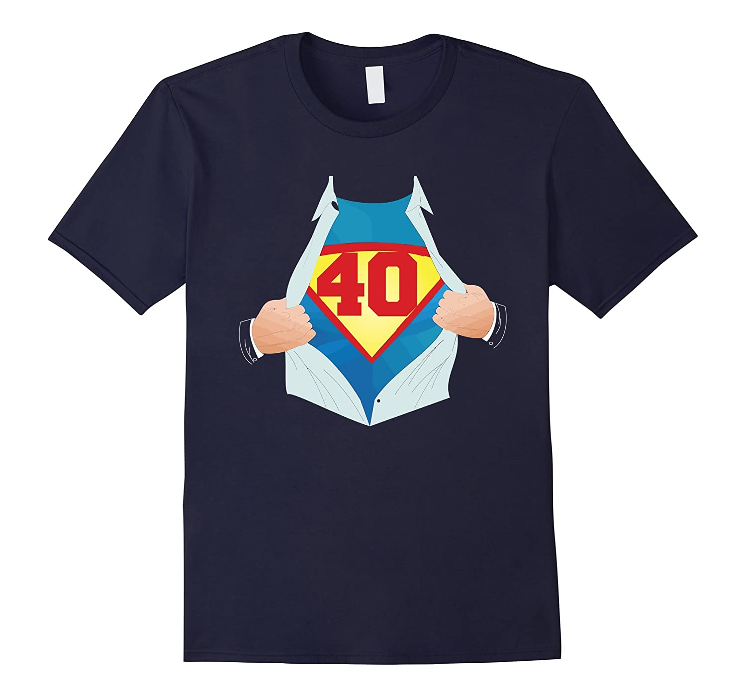 40th Birthday Super-Hero Gift 1976 T-Shirt 40 Years Old-BN