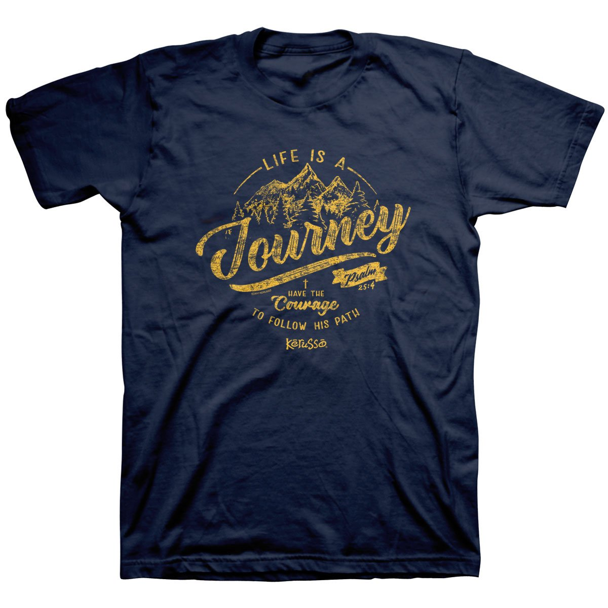 Kerusso Journey Adult T-Shirt-X-Large - Christian Fashion Gifts