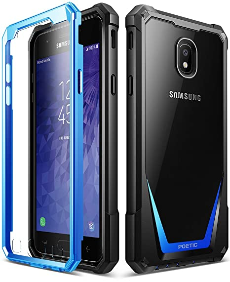 best loved b27e3 76851 Galaxy J3 2018 Rugged Case, Poetic Guardian Heavy Duty Case with  [Built-in-Screen Protector] for Samsung Galaxy J3 2018/J3 Star/J3 Orbit/J3  V 3rd ...